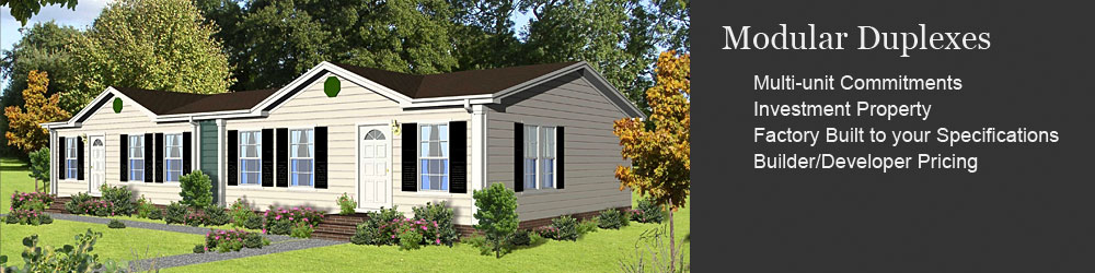 Clh commercial modular duplexes perfect for investment for Duplex modular homes