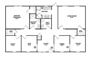 Offices on modular home plans and designs
