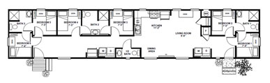 Clh commercial oil field and industrial buildings for Small bunkhouse floor plans